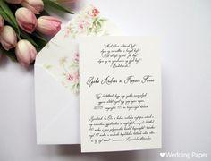 Apró virágos rózsaszín meghívó bélelt borítékkal (M) - mieskuvonk.hu