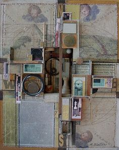 Incredible composition. Lots of empty space offsets the compact middle. A wonderful semi-grid pattern. AnitaNH: Collage & Life: Linked to Roderick Slater