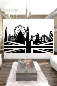 Wall Decals London Skyline- WALLTAT.com Art Without Boundaries