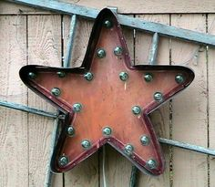 Primitive Vintage Light Up Marquee Sign Star Shape | eBay