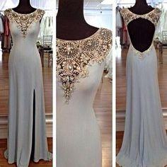 long Evening Dress,blue Prom Dress,backless prom dress,Charming prom dress,evening dress,BD804