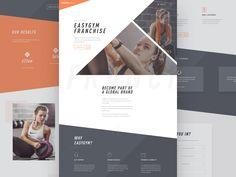 Gym franchise landing page by Louis Saville #Design Popular #Dribbble #shots