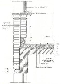 Brick Architecture, Architecture Drawings, School Architecture, Architecture Details, Interior Architecture, Framing Construction, Brick Construction, Construction Drawings, Concrete Facade