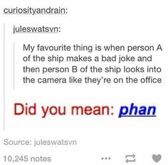 Srsly tho, phan are so guilty of this