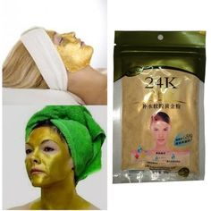 24K Gold Collagen Face Mask Powder Anti-Aging Anti-Wrinkle Luxury Spa Treatment Moisturizing whitening