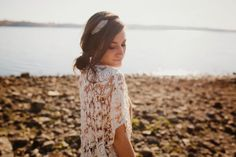 Sincerely, Kinsey wearing the Rose Garden Cape from BHLDN