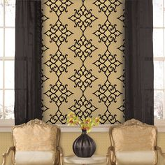 Brewster Home Fashions DL3060 Decadence Sebastian Crepe Moroccan Medallion Wallpaper at ATG Stores