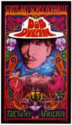 Poster:  Bob Dylan in Concert, Germany Print