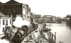 The Quayside Railway, 1939 Weymouth Harbour, Weymouth Dorset, Steam Trains Uk, Holland, Heritage Railway, Then And Now Photos, Disused Stations, Steam Railway, Uk Holidays