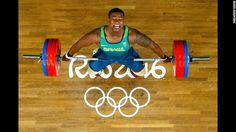 Brazilian weightlifter Mateus Gregorio competes in the 105-kilogram (231-pound)…