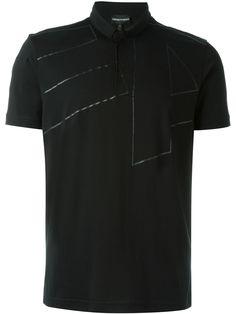 3d18476b21841 Emporio Armani Camisa polo com estampa Armani Polo, Emporio Armani, Armani  Men, Printed