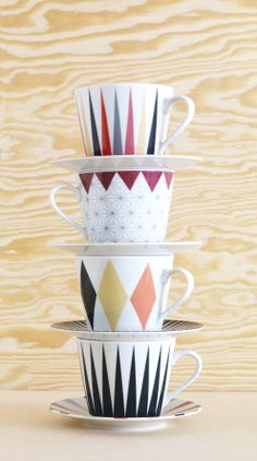 Sharp design, sharp colour. Limited edition BRÅKIG cup and saucer, £10 each, available in Ikea (UK) stores.