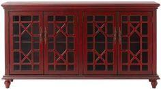 Kason Cabinet - Glass-door Cabinet - Decorative Cabinet | HomeDecorators.com