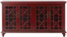 Kason Cabinet - Glass-door Cabinet - Decorative Cabinet | HomeDecorators.com