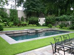 Raised lawn terrace and pool divine!