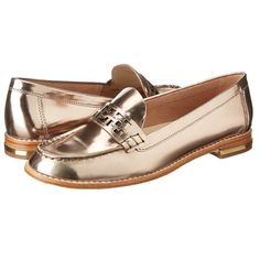 """Trina Turk BRAND NEW silver leather loafers Trina Turk BRAND NEW burnished silver leather loafers with gold metal banded 3/4"""" heels.   Absolutely stunning and comfortable. States size 8 would fit 8 1/2 best. Trina Turk Shoes Flats & Loafers"""