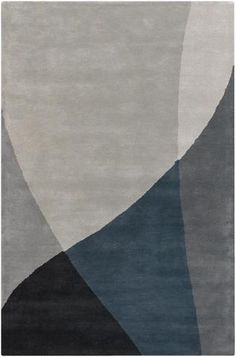 Bense Collection Hand-Tufted Area Rug, Grey design by Chandra rugs