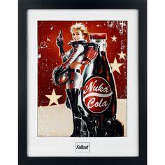 Fallout 4 - Nuka Cola - ingelijste poster - 30 x 40 cm verzamelprint - 25 mm dik frame van plastic - barstbestendige ruit van plastic Deze ingelijste poster van Fallout 4 is perfect geschikt voor de liefhebbers van de gamereeks en voor de echte verzamelaars. De poster toont een reclameprent van iedereens favoriete post-apocalyptische frisdrankje: Nuka Cola! De ingelijste poster heeft een grootte van 30 cm x 40 cm en een frame van 25 mm dik met een barstbestendige ruit van plastic. Neem de…