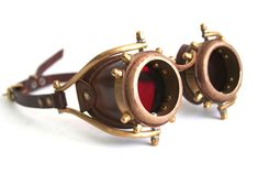 Steampunk Goggles number 2  by ~AmbassadorMann  Artisan Crafts / Metal Work©2009-2012 ~AmbassadorMann  Another common design of my recent brass goggles collection.. Also always avalible at my E-bay and Etsy.   I personally just love making these...