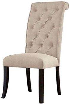 Ashley Furniture Signature Design Tripton Dining UPH Side Chair Linen Set of 2