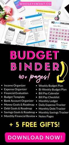 Come explore this epic budget binder! The Budget Boss Binder is an epic budget binder with 40 budget binder printables … Weekly Budget, Budget Binder, Making A Budget, Create A Budget, Budgeting Finances, Budgeting Tips, Finance Organization, Coupon Organization, Organizing