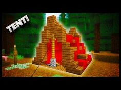 Minecraft - How To Make A Tent! Today I'm going to show you how to make a nice and easy Minecraft Tent. This version of a Minecraft Tent will look great in a.