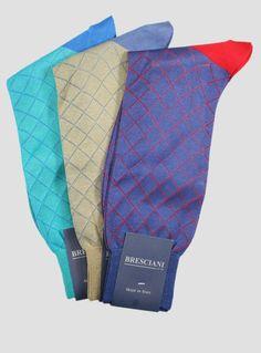 Bresciani Diamond Crew - Men's   The Sock Hop #socks #thesockhop #sockhopny