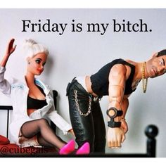 Barbie made Friday her bitch ~ she is chic. Instagram photo by @cubegals (Peasantly Chic) | Iconosquare