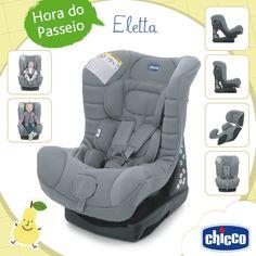 A Chicco acompanha o crescimento do seu filho! A cadeira Eletta Comfort é a melhor opção para os papais modernos que prezam a praticidade e conforto. Acompanha a criança do nascimento até aproximadamente 3 anos de idade. Dos 0 aos 9 kg deve ser instalada virada para trás e dos 9 aos 18 kg virada para frente.