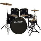 Rise by Sawtooth Full-Size Student Drum Set with Hardware and Zildjian Cymbals, Pitch Black Drum Sets For Sale, Zildjian Cymbals, Drum Key, Drum Pedal, Pearl Drums, Drum Lessons, Snare Drum, Bass Drum, Thing 1