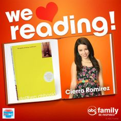 Cierra Ramirez from The Fosters loves The Perks of Being a Wallflower by Stephen Chbosky!