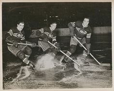 """The """"Punch Line"""" - Maurice Richard, Elmer lach and Toe Blake"""