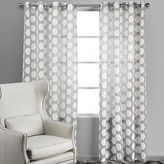 Add a breezy touch to your windows with graphic yet subtle Ankara Panels in Grey. $49.95 - $59.95