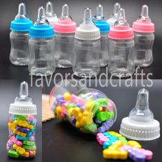 24 Fillable Bottles for Baby Shower Favors Blue Pink Party Decorations Girl Boy - Baby Shower - Ideas of Baby Shower Baby Shower Party Supplies, Baby Shower Favors, Baby Shower Games, Baby Shower Parties, Baby Boy Shower, Baby Shower Invitations, Baby Showers, Shower Gifts, Pink Party Decorations