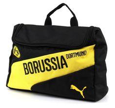PUMA BVB evoSPEED Wash Bag Black-Cyber Yellow