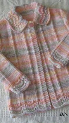 İşlemeli Bebek Yelek Yapılışı - How To Knit for Beginners 2020 Baby Knitting Patterns, Baby Cardigan Knitting Pattern Free, Knitting For Kids, Crochet Dress Girl, Crochet Baby Dress Pattern, Baby Dress Patterns, Baby Girl Vest, Newborn Crochet, Free Baby Stuff