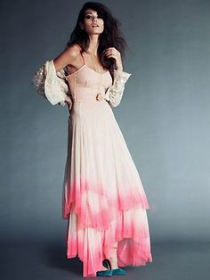 Free People - Merrie's Limited Edition Mesh Dress - looks elegant and pretty! Boho Outfits, Dress Outfits, Dress Clothes, Mesh Dress, Tulle Dress, Pink Dress, Free People Dress, Dress Me Up, Boho Dress