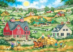 Masterpieces Bonnie White Heartland Bringing in the Hay Jigsaw Puzzle 500 pc