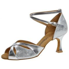 Diamant Tanzschuhe Latein Damen Tanzschuhe 035-087-013 mit 6,2cm Absatz silber
