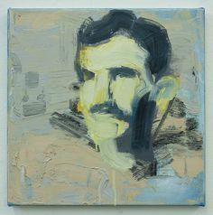 Tesla Enlightenment, oil on canvas, 40x40cm, 2013   contemporary art   painting   art   bartosz beda   artist