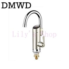 DMWD Tankless Rapid Heating Digital Kitchen Faucet With LED display