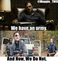 ...and it's gone. Walking Dead Governor zombies LOL meme funny