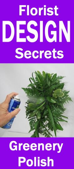 How to Make a Bouquet - Sealing Greenery with Leafshine   Learn how to make bridal bouquets, corsages, boutonnieres, reception table centerpieces and church decorations.  Buy wholesale fresh flowers and discount florist supplies.
