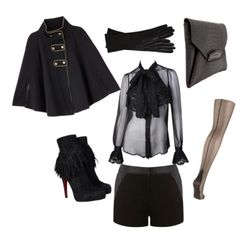 Not exactly a spring or summer look but you can never go wrong w/all black everything.
