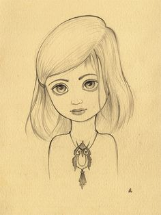 Girl sketch- would like to do this with blacked out eyes and stitched mouth
