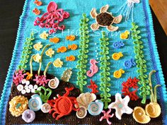 Crochet inspiration - Under The Sea: Loving this crochet afghan!