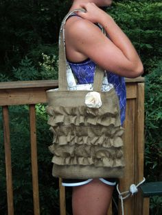 easy peasy ruffle bag.