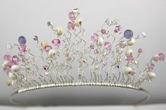New Beadscrumptious Blog Post: Monthly Make March : Lampwork Bead Tiara