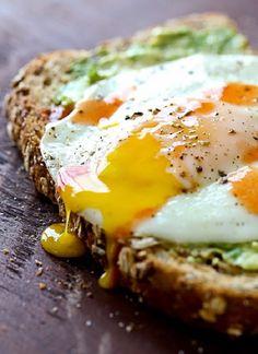 Avocado toast with sunny side egg.