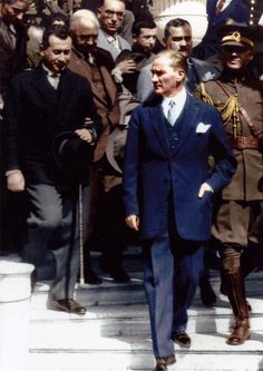 of Ataturk& Most Charismatic and Stylish Men in the World - Adeline Butler - Republic Of Turkey, The Republic, Turkish Army, Turkish People, The Turk, Bae, Great Leaders, Historical Pictures, World Leaders